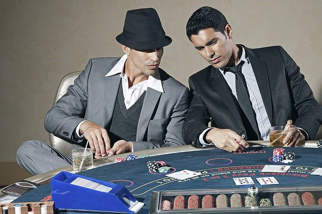 Two man in casino